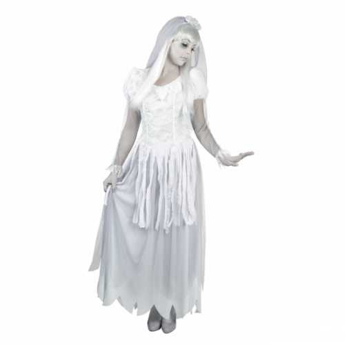 Spook bruid jurk sluier dames