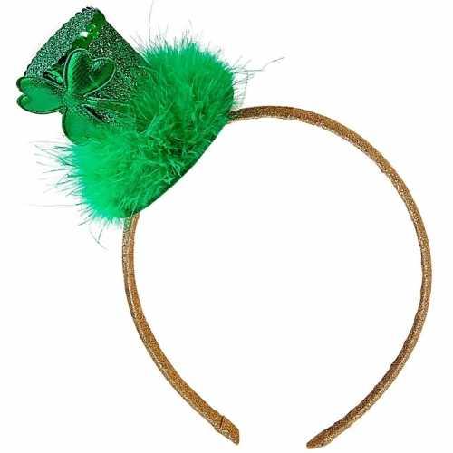 St. patricks day feest hoedje op haarband dames