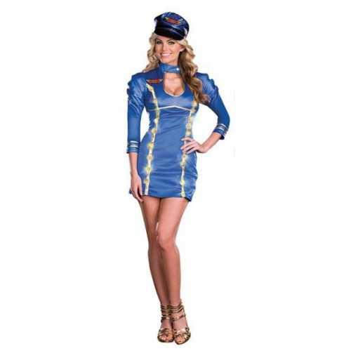 Stewardess verkleedkleding jurkje licht