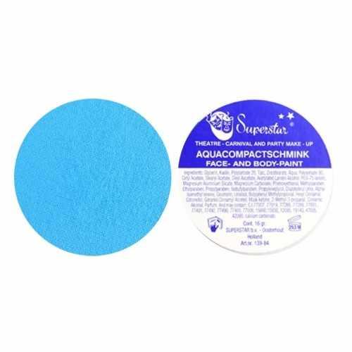 Superstar aqua schmink pastel blauw