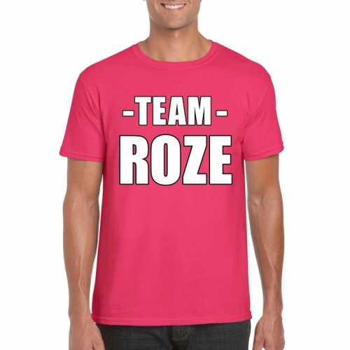 Team shirt roze dames bedrijfsuitje