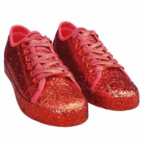 Toppers rode glitter disco sneakers/schoenen dames