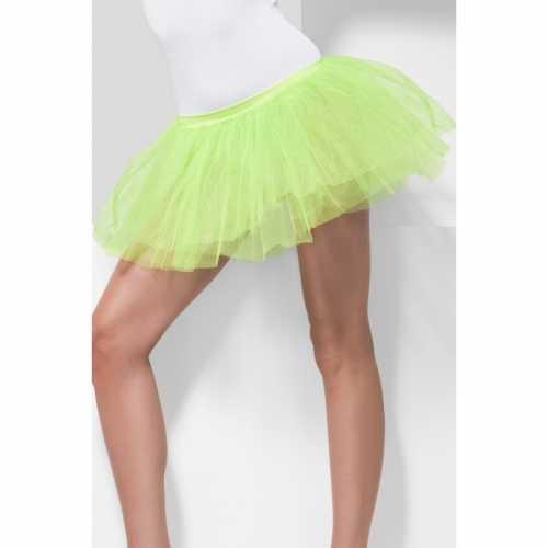 Tule onderrok neon groen verkleedkleding