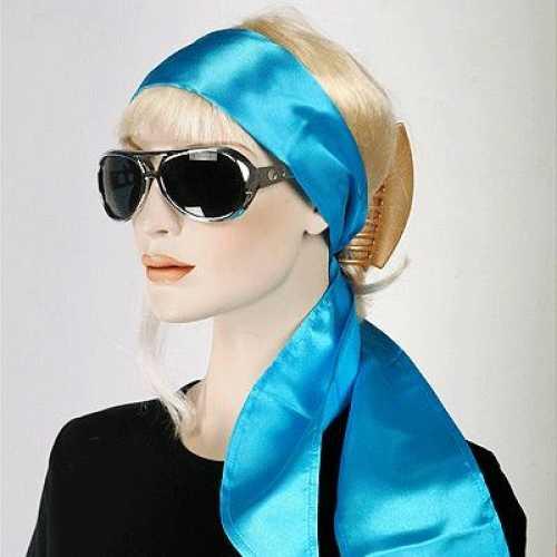 Turquoise hoofdsjaals dames