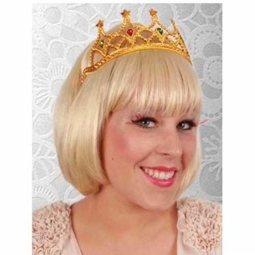 Verkleed accessoire koninginnen tiara goud