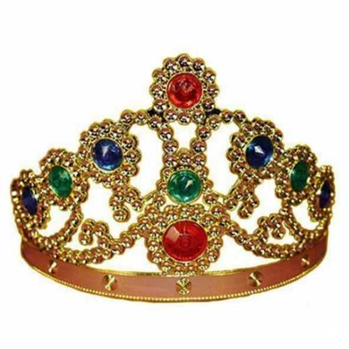 Verkleed koninginnenkroon in het goud stenen