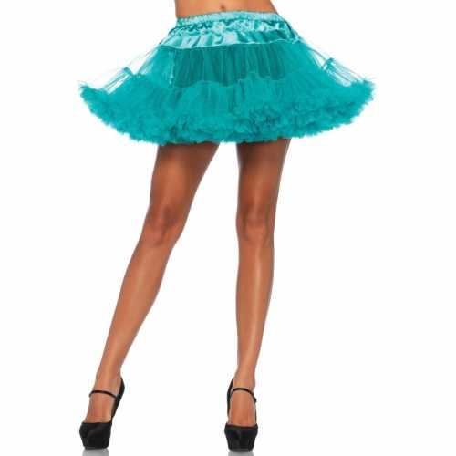 Verkleed korte petticoat groene dames