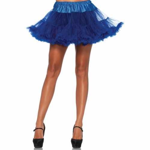 Verkleed korte petticoat kobalt dames
