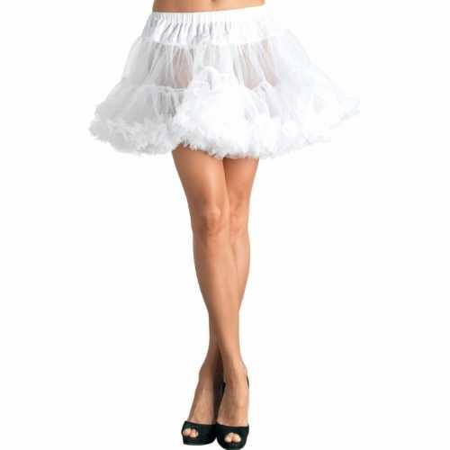Verkleed korte petticoat wit dames