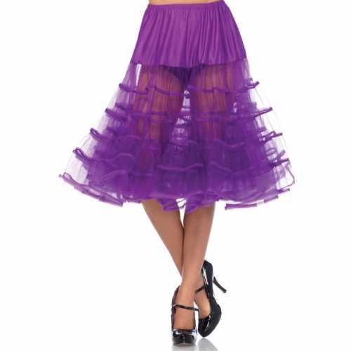 Verkleed lange petticoat fel paars dames