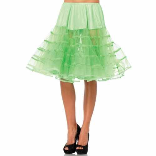 Verkleed lange petticoat neon groen dames