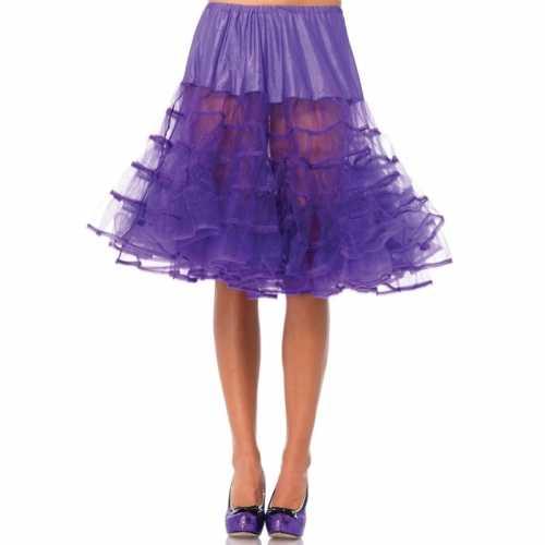 Verkleed lange petticoat paars dames