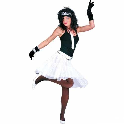 Verkleed petticoat dames wit