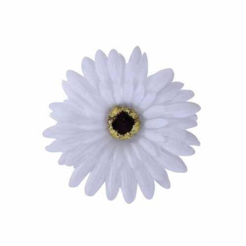 Verkleedaccessoires haarbloem wit