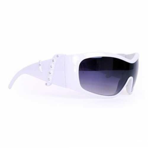 Verkleedaccessoires witte bril strass steentjes