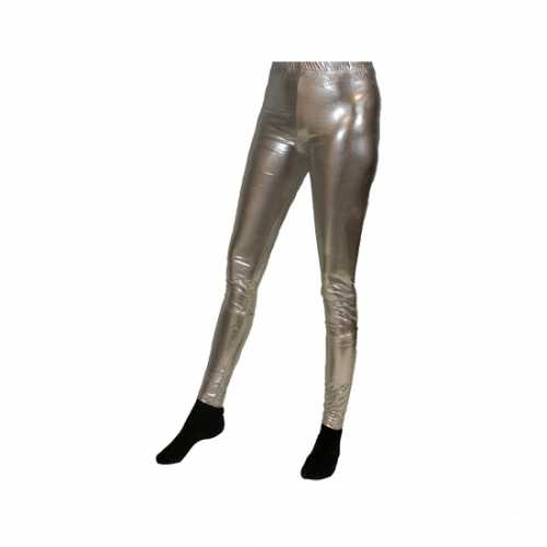 Verkleedkleding legging zilver dames