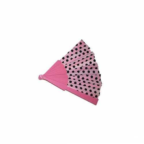 Waaier roze zwarte stippen