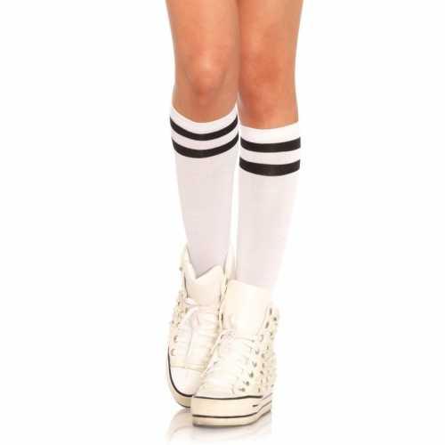 Wit zwarte voetbal sokken dames