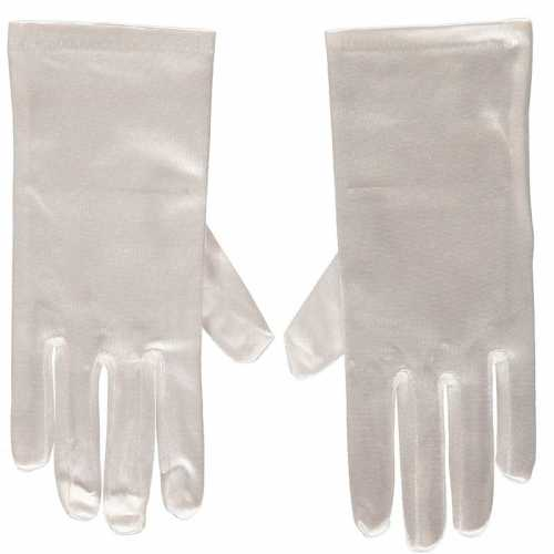 Witte gala handschoenen kort van satijn 20