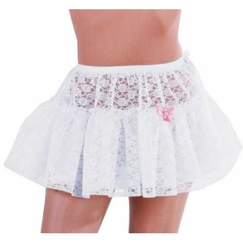 Witte petticoat kant dames