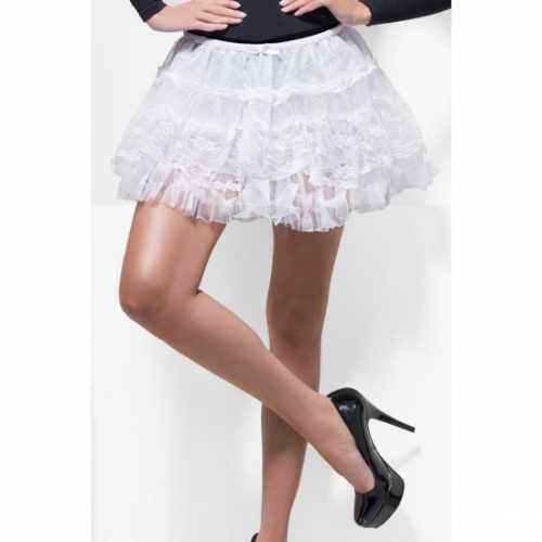 Witte petticoat van kant dames