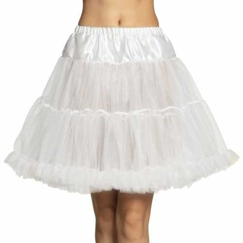 Witte rock 'n roll petticoat dames