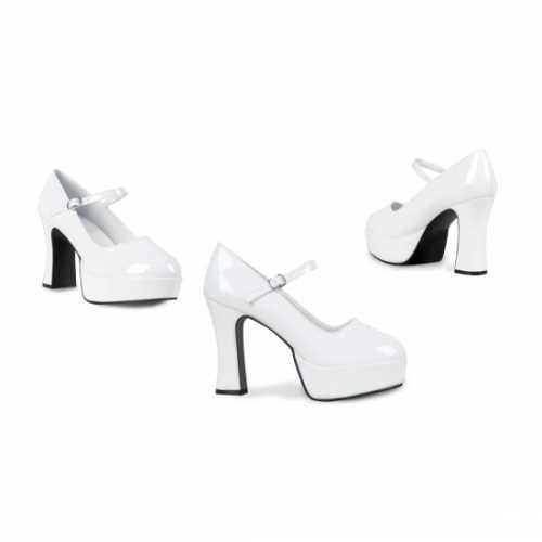 Witte schoenen hoge hak