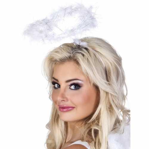Witte veren engelen hoofdband