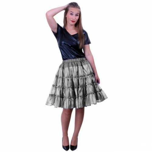 Zilveren 5 laags petticoat