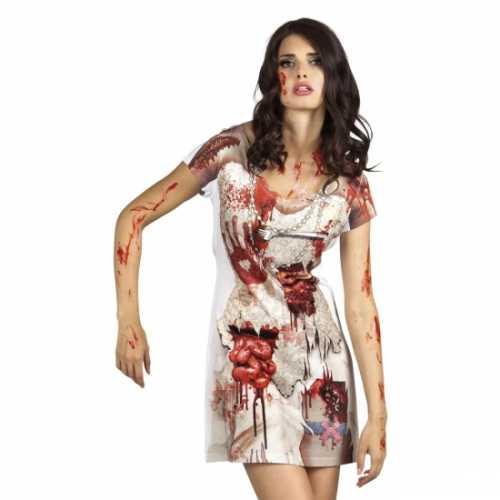 Zombie bruid verkleedkleding jurkje