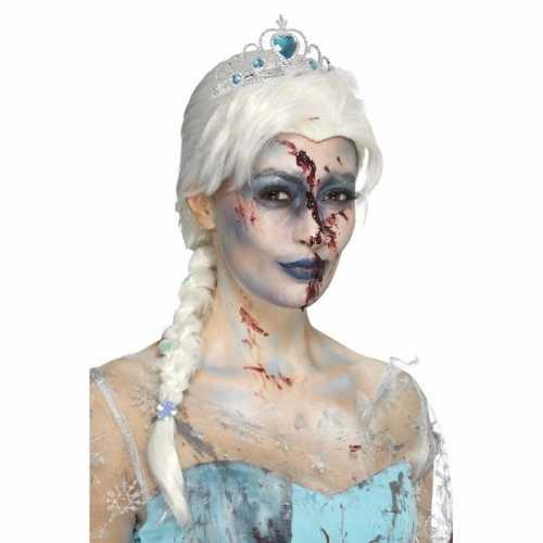 Zombie ijsprinsessen pruik vlecht
