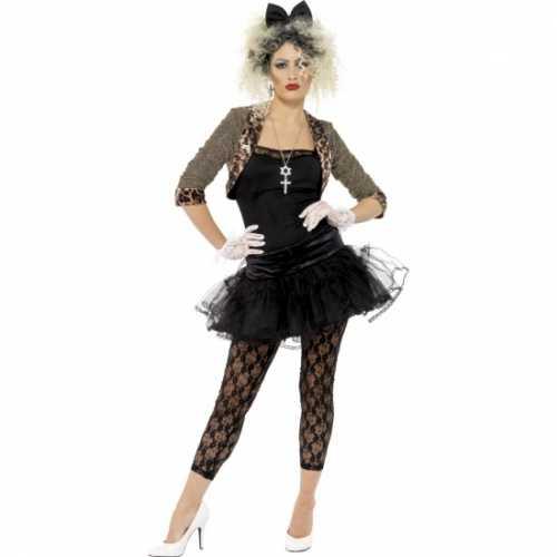 Zwart jaren 80 dames verkleedkleding