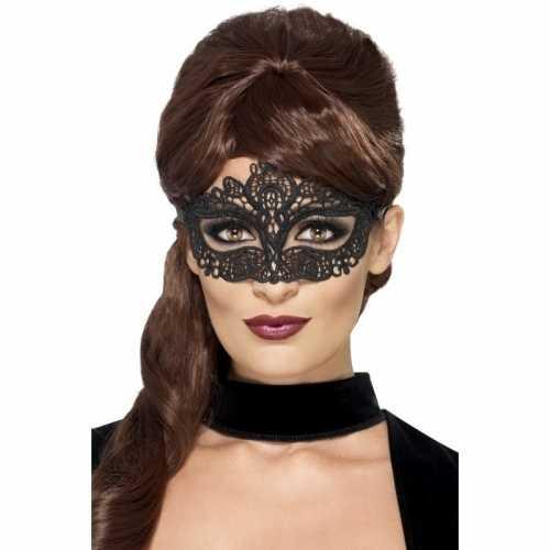 Zwart kanten oogmasker dames