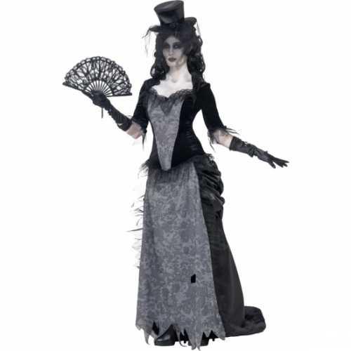 Zwart weduwe verkleedkleding dames