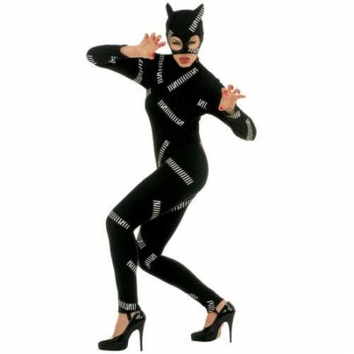 Zwarte catsuit kattenoren