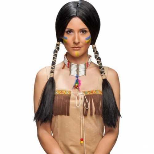 Zwarte damespruik indiaan