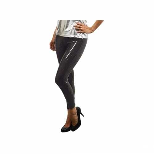 Zwarte leggings pailletten