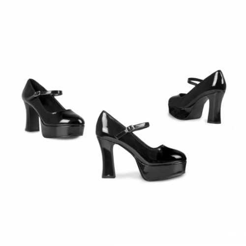 Zwarte schoenen 10 hoge hak