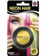 Blacklight gele haarkrijt