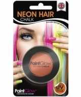 Blacklight oranje haarkrijt
