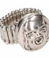 Chunkring zilveren boeddha volwassenen
