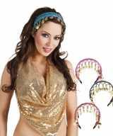 Gekleurde buikdanseres hoofdband