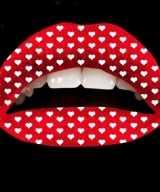 Liptattoo rood hartjes