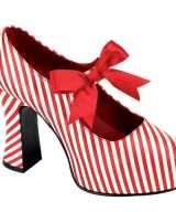 Mary jane rood witte pumps