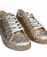 Toppers gouden glitter disco sneakers schoenen dames