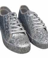 Toppers zilveren glitter disco sneakers schoenen dames
