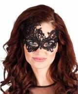 Zwart kanten oog masker dames